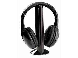 Lot 2pcs New 5 in 1 Wireless Headphone Black for MP3/MP4 PC TV CD FM Radio