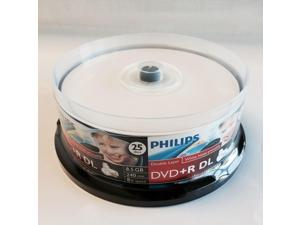 25 Inkjet DVD+R DL Dual Double Layer 8X Disc