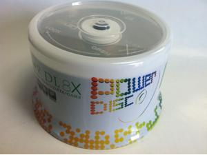 50PK Power Disc Logo 8x DVD+R DL Dual Layer Disc