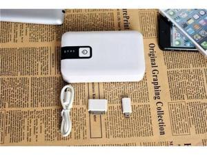 12000mAh Double USB Portable External Battery Power Bank Charger For Cell Phone / white