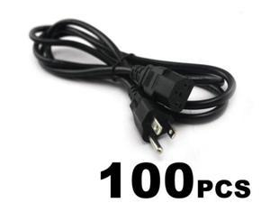 100 LOT AC Power Cord Cable Desktop Monitor Computer 6ft IEC320 Heavy Duty