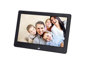 "Digital Photo Frame 10"" Inch LCD Picture Calendar Clock MP3 + Control Black"