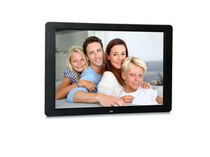 """15"""" LED HD High Resolution Digital Picture Photo Picture Frame Black"""