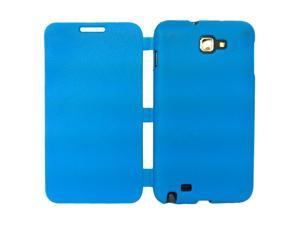 Simply Color Semi-soft TPU  Flip Cover Case For Samsung Galaxy Note N7000 i9220 - Blue