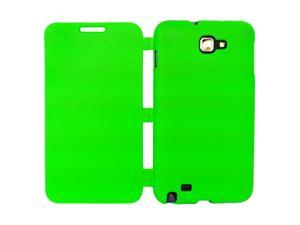 Simply Color Semi-soft TPU  Flip Cover Case For Samsung Galaxy Note N7000 i9220 - Green