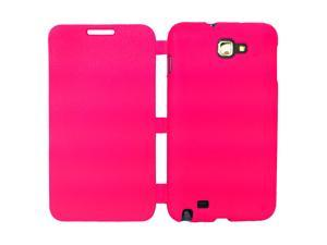 Simply Color Semi-soft TPU  Flip Cover Case For Samsung Galaxy Note N7000 i9220 - Hot Pink