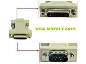HQmade Dual Link DVI-I Female 24+5 to VGA Male 15pin HD 15 Connector Adapter