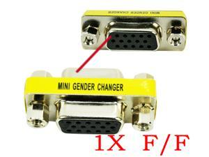 HQmade HD15 VGA D-sub Connector Gender Changer Female to Female DB15 Adapter F/F