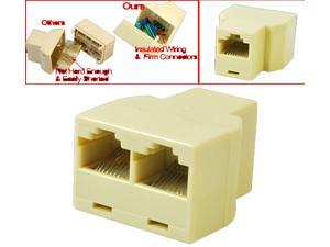 T Splitter Plug For RJ45 1 to 2 Ethernet Cable Coupler Extender