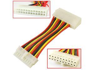 HQmade ATX Cable 20-Pin to 24-Pin Internal Power Supply Cable Interconnect for Motherboard Accessory Male To Female M/F