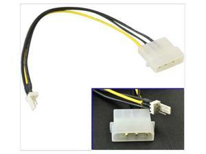 HQmade 15cm Molex IDE LP4 4-pin to 3-pin CPU/Chasis Fan Power Cable Adapter
