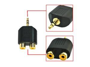 HQmade 3.5mm Stereo to 2-RCA  Connector Audio Adapter Plug