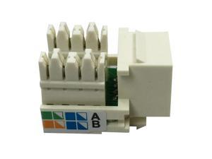 AMP TE Connectivity Enhanced Cat 5E  RJ45 Jack UNIV, Wiring, Almond, LAN Network Cabling Module Keystone Jack Socket