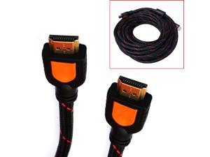 HQmade High Speed HDMI Cable Male Nylon Braided V1.4 Audio Vedio Lead - 12 Meters ( 40 Ft )