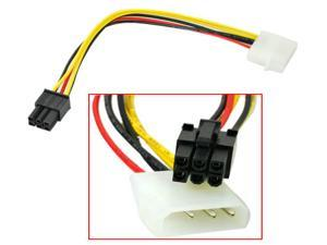 HQmade 6-Pin Power Supply Cable Internal In-line for PCI Express Video Card