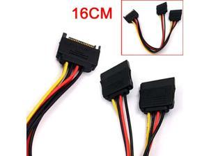 HQmade 4pin SATA Power Cable Y splitter Adapter - 7.5 inches