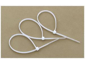 """HQmade 4mmx100mm 3.8"""" Nylon Cable Ties White Color Order In PCS - Intermediate Zip Tie Fasten Wrap (Flat Rated Shipping)"""