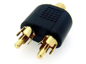 HQmade RCA connector phono cinch connector Female To Male Splitter Adapter Gold Plated