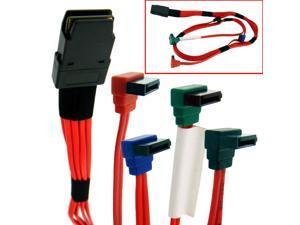HQmade SFF 8087 Internal Mini-SAS Connector to 4 x SATA Connector Cable