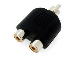 HQmade 1 to 2 RCA Phono AV Y-Splitter Adapter AV Audio Video Stereo Y Splitter