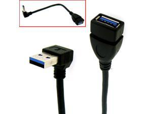 HQmade USB 3.0 Extension Cable SuperSpeed USB3.0 Uptward Angle Lead
