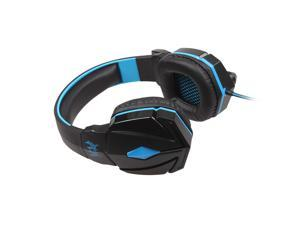 HQmade Each G4000 Pro Gaming Headset 3.5mm Jack Plug Circumaural Stereo Sound and Microphone With LED - Blue
