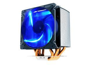 PC Cooler S126 120mm Blue LED Cooling Fan with Heatpipe Heatsink Radiator For Socket AM2/AM2+/AM3/FM1/FM2/ LGA1155/1156/775 CPU Cooler