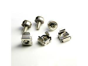 HQmade M6 Mounting Screws and Cage Nuts M6*21 with Plastic Washer for Server Rackmount Replacement Order in PCS