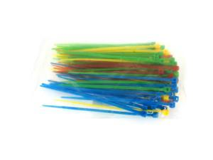HQmade 2.5x100mm Nylon Cable Ties Self-Locking Zip Tie 4 Colours: Red Blue Yellow Green (100pc/Pack)