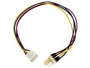HQmade 4-Pin Power Cable Internal Supply Extension For Computer Case Fan, CPU Fan