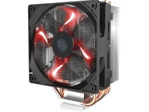 "Cooler Master Blizzard T400i  - CPU Cooler with 120mm ""Fire Red"" LED PWM Fan & 4 Direct Contact Heatpipes - Intel Socket LGA 2011/2011-3/1156/1155/1151/1150/1366/775"