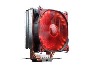 PC Cooler Fire Red Butterfly 125+ CPU Cooler with 120mm 16x Red LED PWM Fan & 3x 8mm HDT Heatpipes Heatsink For Intel LGA 1156/1155/1151/1150/1366/775, AMD FM2+/FM2/FM1/AM3+/AM3/AM2+/AM2/940/939/754