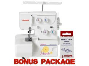 Janome Magnolia 7034D 3- & 4-Thread Serger w/ Differential Feed & FREE BONUS