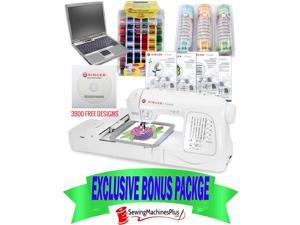 Singer XL-420 Futura Emboidery Machine w/Endless Emb Hoop I WANT IT ALL PACKAGE