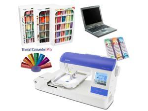Brother PE-770 Embroidery Machine Pack + thread/designs/stabilizer & Dell laptop
