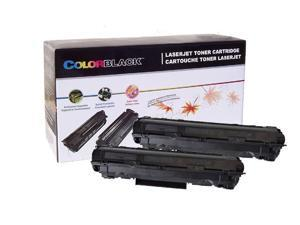 ColorBlack® Twin Pack Premium Compatible HP CE285A Black Toner Cartridge With Chip, 1600  Page Yield/Each @ 5% Coverage, Suitable For Use In HP LaserJet Pro P1102 /  P1102M /  P1102w …