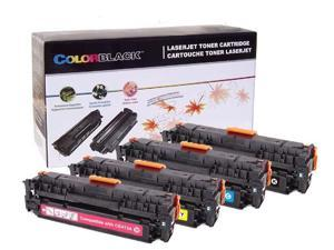 ColorBlack® Set Of 4 Colors Compatible Toner Cartridge HP 305X/305A ( CE410X, CE411A, CE412A, CE413A ) Combo With Chip  Suitable for use in HP LaserJet Pro 300 Color  …