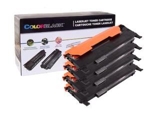 ColorBlack® 1 Set Of 4 pieces Premium Compatible Samsung ( CLT-K407S, CLT-C407S, CLT-Y407S, CLT-M407S ) Toner Cartridge With Chip Suitable For Use In Samsung CLP-320K/ 325K/ 325W&#59; CLX-3185 …