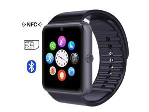 GT08 Smart Watch Phone Watch Touch Screen Slot Push Message Bluetooth Mate For Android Phone Black Color