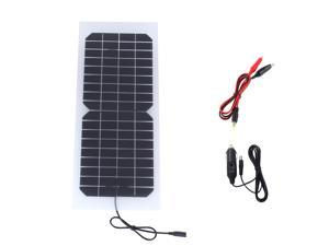 Semi-flexible 10W 18V 550mA Solar Panel Battery Charger For 12V Car Battery