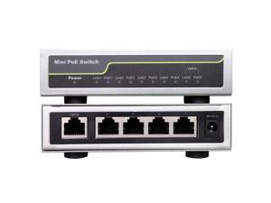 Fast Ethernet Network Switch IEEE 802.3af/at Industrial PoE Switch 4+1 Port Transmission Range 100meters