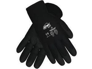 Memphis Glove 2X Black Ninja® ICE 7 Gauge Acrylic Terry Lined General Purpose Cold Weather Gloves With Knit Wrist, 15 Gauge Nylon Shell And HPT Coated Palm And Fingertips
