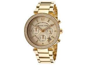 Michael Kors MK5354 Parker Glitz Chronograph Gold Tone Women's Watch