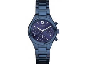 Guess RIVIERA Women's 36mm Chronograph Blue Steel Bracelet Quartz Watch W0323L4