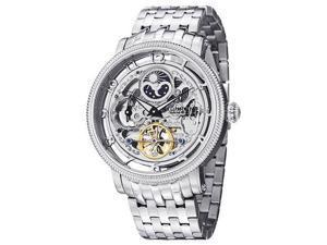 Stuhrling Men's 47mm Silver Steel Bracelet & Case Watch 411.33112