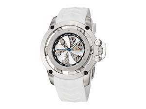 Stuhrling Men's 47mm White Rubber Stainless Steel Case Date Watch 309I.331P3