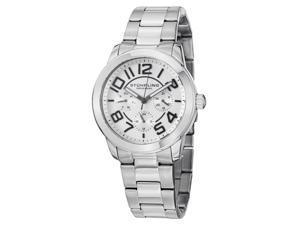 Stuhrling Women's 38mm Silver Steel Bracelet & Case Sapphire Glass Watch 807.01