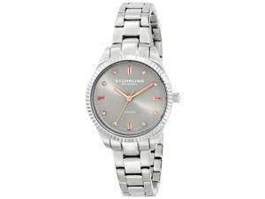 Stuhrling Women's 32mm Silver Steel Bracelet & Case Sapphire Glass Watch 607L.03