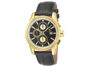 Invicta S. Coifman Men's 43mm Chronograph Black Calfskin Quartz Watch SC0255