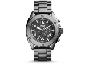 Fossil Men's 45mm Chronograph Silver Steel Bracelet & Case Quartz Watch FS5017